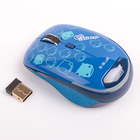 Мышь E-Blue Monster Babe, беспроводная, Blue Wave сенсор, 1480 dpi, USB, синяя