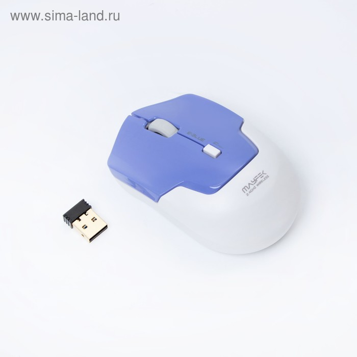 Мышь E-Blue MAYFEK Беспроводная, синяя, Red сенсор, 1480 DPI, USB (EMS119BL)