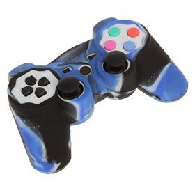 Силиконовый чехол для PS3 Oxion OSC01BLM, синий камуфляжный (OSC01BLM) Ош