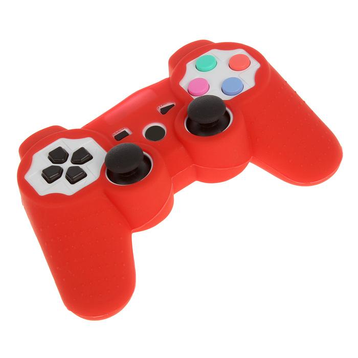 Силиконовый чехол для PS3 Oxion OSC01RD, красный (OSC01RD)