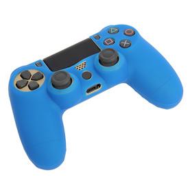 Силиконовый чехол для PS4 Oxion OSC02BL, синий (OSC02BL) Ош