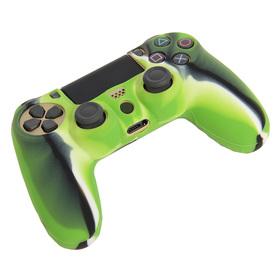 Силиконовый чехол для PS4 Oxion OSC02GNM, зелёный камуфляжный (OSC02GNM) Ош