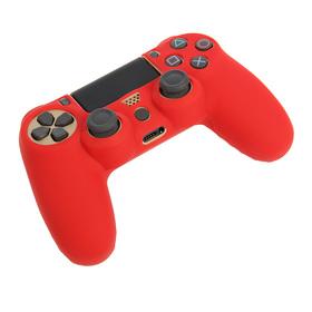 Силиконовый чехол для PS4 Oxion OSC02RD, красный (OSC02RD) Ош