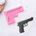 Молд силиконовый «Пистолет», 11×7,5×1 см - фото 308041765