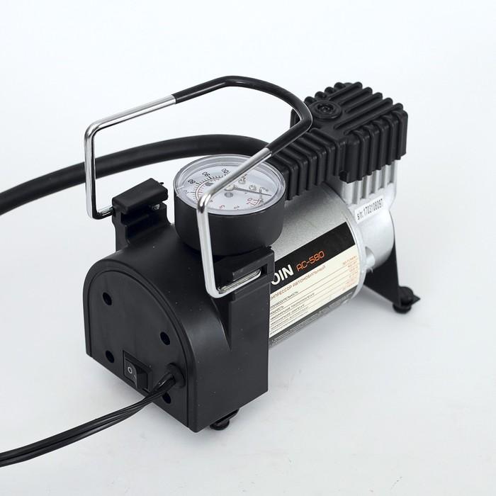 Компрессор автомобильный VOIN AC-580, 13,5 А, 30 л/мин, провод 3 м, шланг 1 м