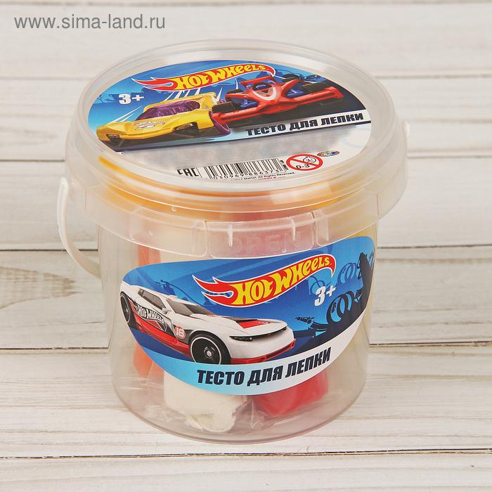 Тесто для лепки Hot Wheels, 7 цветов по 30 г + 2 формочки