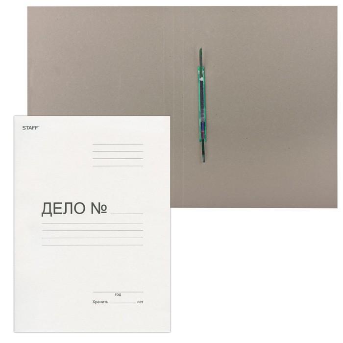 Скоросшиватель Дело 310г/м2 белый STAFF, картонный, до 200 листов