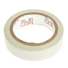 Изолента LOM, ПВХ, 15 мм х 7 м, 130 мкм, белая