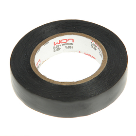 LOM electrical tape, PVC, 15 mm x 14 m 130 µm, black