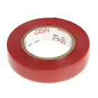 LOM electrical tape, PVC, 15 mm x 14 m, 130 micron, red