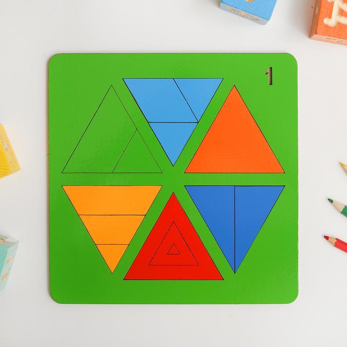 «Сложи треугольник» №1 (Н. Семёнова) МИКС, по методике Никитина - фото 105590374