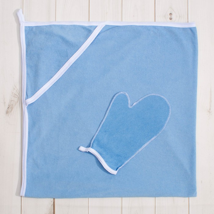 Комплект для купания (2 предмета), цвет голубой 1208