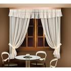 Комплект штор 88835, шторы ш 150 х в 250 см - 2 шт, ламбрекен ш 300 х в 40 см, кремовый
