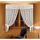 Комплект штор 88834: шторы ш 155 х в 220 см - 2 шт, ламбрекен ш 230 х в 35 см, кремовый