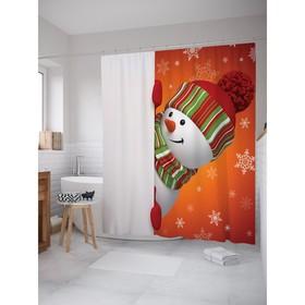 Фотоштора для ванной JoyArty, 180х200 см., 100% полиэстер