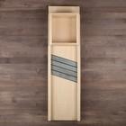 Шинковка деревянная 3 лезвия, с подвижным держателем, 79 х 22 см