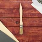 Кисть плоская, тонкая, деревянная ручка, 20 х 8 мм