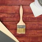 Кисть плоская, тонкая, деревянная ручка, 70 х 8 мм
