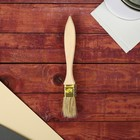Кисть плоская, толстая, деревянная ручка, 25 х 14 мм