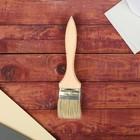Кисть плоская, толстая, деревянная ручка, 50 х 14 мм