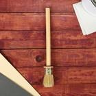 Кисть круглая, деревянная ручка, 30 мм