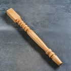 Ножка-балясина из массива бука, лакированная, натуральный цвет, 73 см, сорт AB
