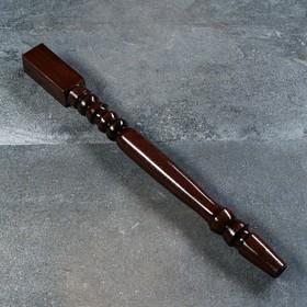 Ножка-балясина из массива бука, нелакированная, коричневая, 73 см, сорт AB