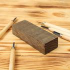 Брусок деревянный для творчества, морёный дуб, 130 х 45 х 30 мм