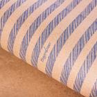Бумага упаковочная крафтовая «Синие полоски», 50 × 70 см