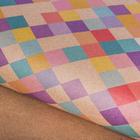 Бумага упаковочная крафтовая «Цветные ромбики», 50 × 70 см