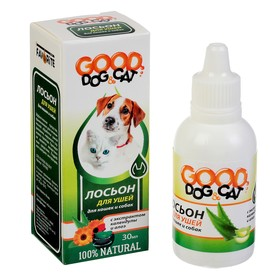 Лосьон для ушей GOOD DOG&Cat для кошек и собак, 30мл