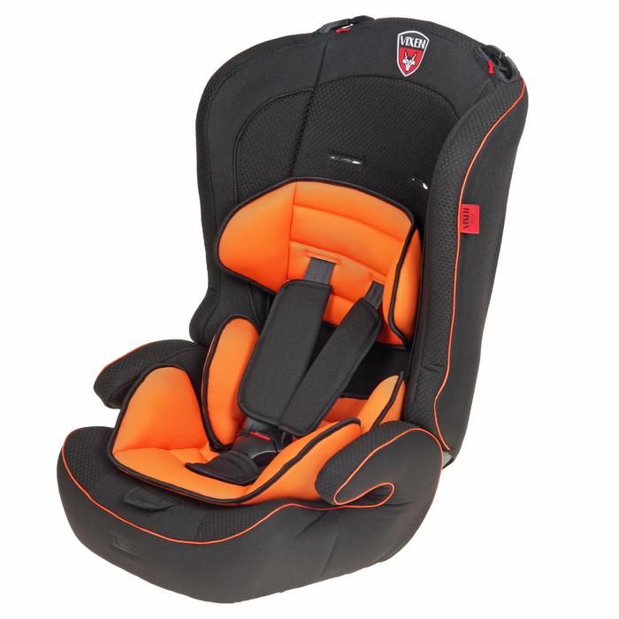 Автокресло-бустер «М1 Оникс», группа 1-2-3, цвет оранжевый/чёрный