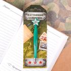 """Ручка пластиковая со звездой """"Настоящий защитник"""""""