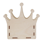 """Копилка  из фанеры для декора """"Корона"""" (набор 6 деталей) 16х16 см (ДЕК-452)"""