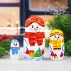 """Матрешка 3 кукольная """"Снеговик"""" 11 см"""