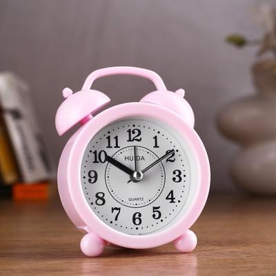 "Будильник ""Классика"", розовый, 4х8.5х12 см"
