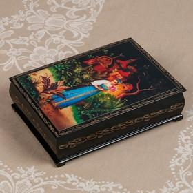 Шкатулка «Сказки», 16×22 см, лаковая миниатюра