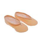 Балетная обувь ручной работы, размер 32, цвет бежевый
