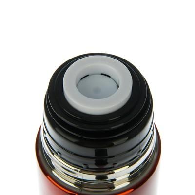 """Термос с клапаном """"Командор"""", 500 мл, вакуумный, сохраняет тепло 24 ч, красный, 7х24.5 см 23722"""