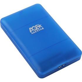 "Внешний корпус для HDD/SSD AgeStar 3UBCP3 SATA пластик синий 2.5"""