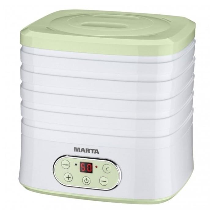 Сушилка для овощей и фруктов Marta MT-1944, 250 Вт, 5 поддонов, зеленая