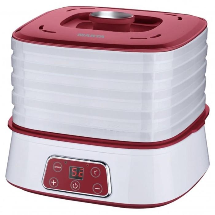 Сушилка для овощей и фруктов Marta MT-1947 ,250 Вт, 5 поддонов, красная