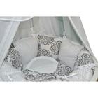Комплект в круглую кроватку «Дамаск», 19 предметов