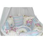 Комплект для прямоугольной кроватки «Цветочная поляна», 19 предметов