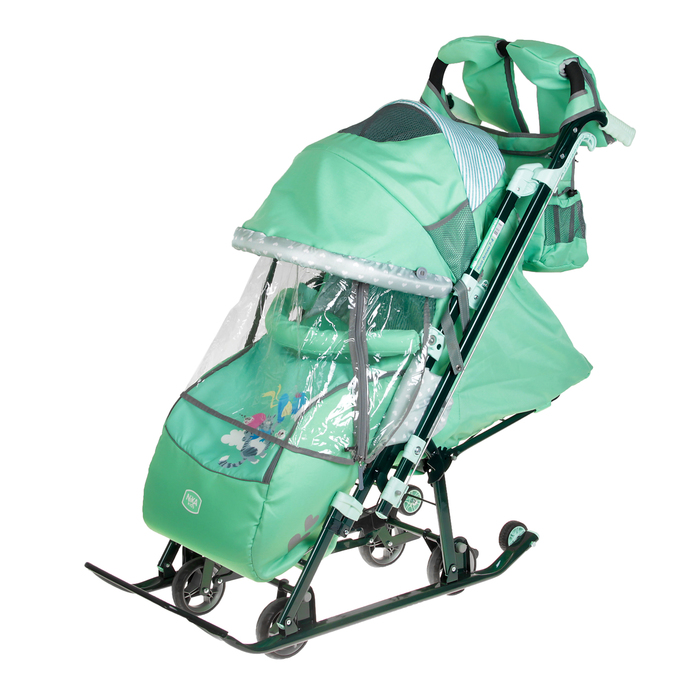 Санки-коляска «Ника детям 7-4/2», цвет мятный