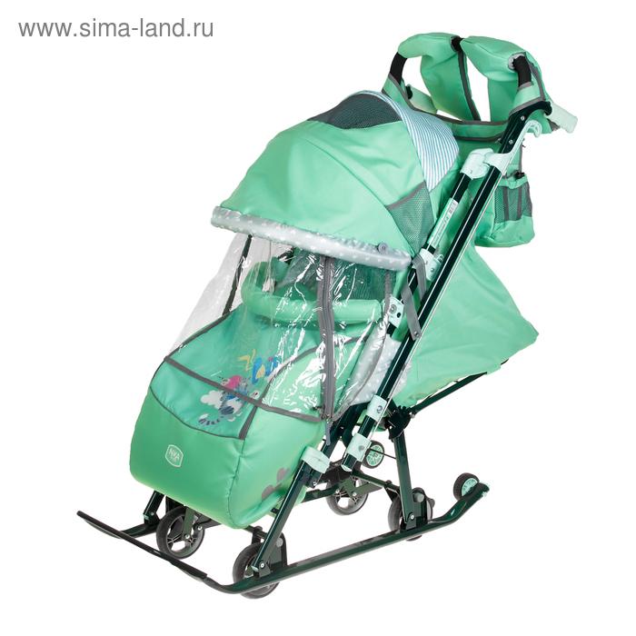 Санки-коляска «Ника детям 7-4 2», цвет мятный (2505499) - Купить по ... c7ca277e2be