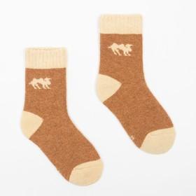 Носки детские с верблюжьей шерстью Ндш7838 цвет ореховый, р-р 16 (4-6 лет)