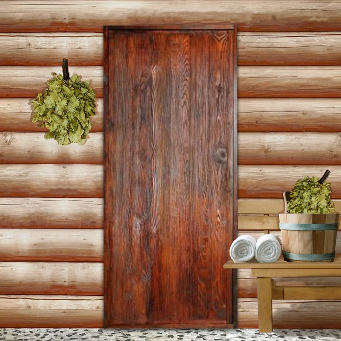 """Дверь для бани """"Классика"""", брашированная, морёная, лакированная, 160х80см"""