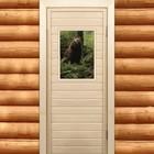 "Дверь для бани и сауны ""Бурый мишка"", 190х70см"