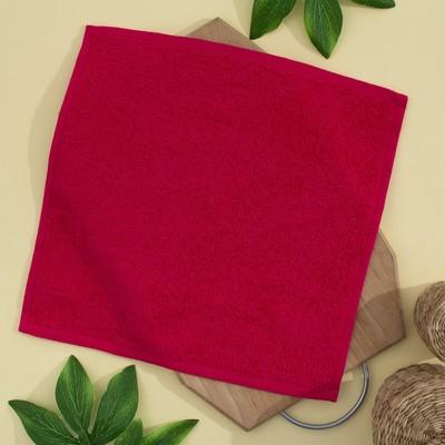 Terry cloth, 30x30 cm, color cranberry